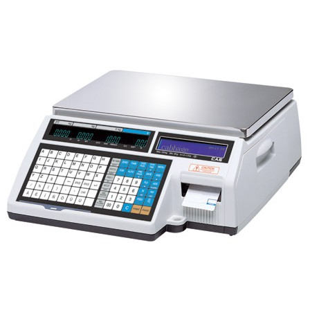 Весы торговые с печатью этикетки CAS CL5000